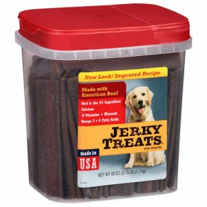 Jerkey Treats Beef Jerkey Dog Treats 3.75 Lb Tub