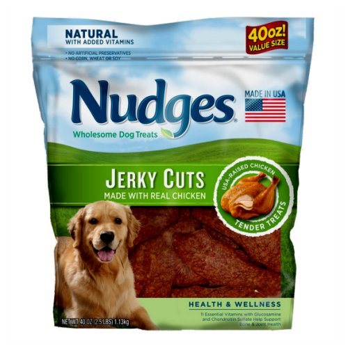 Nudges Chicken Jerky Cuts 40 oz Bag - Click Image to Close