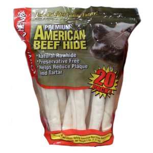 "Rawhide Retriever Rolls 10"" Natural Beef 20 Count"