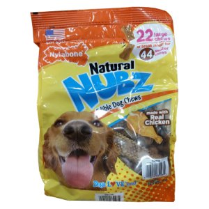 Nubz Edible Dog Dental Chews 2.6 Lb Bag
