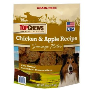 Top Chews Chicken and Apple Recipe Dog Treats 2.5 Lb Bag