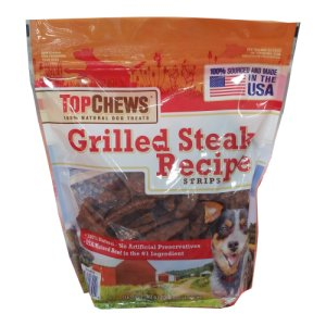 Top Chews Grilled Steak Recipe Dog Treats 2.5 Lb Bag